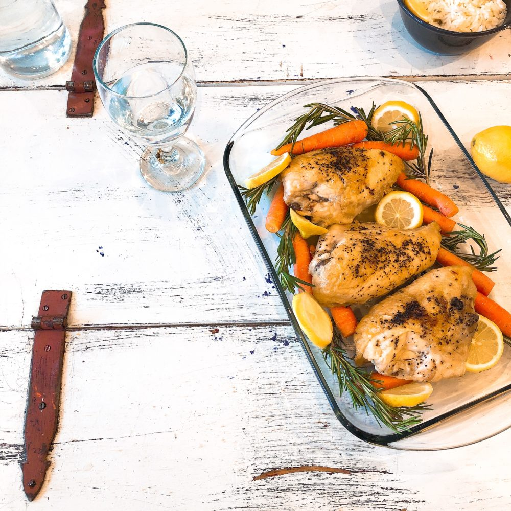 Rosemary Chicken With Lemon Rice