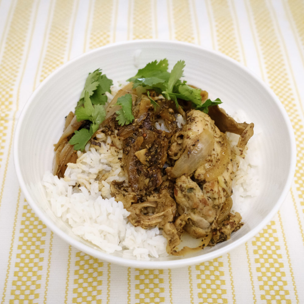 Chicken Yassa with rice recipe